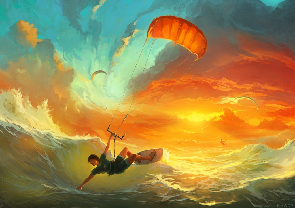 Digital painting by RHADS